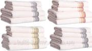 Полотенце банное с полосками,  50х90,  70х140,  кремовое. Diandra line