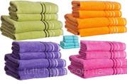 Полотенце банное с полосками,  50х90,  70х140,  Diandra spring
